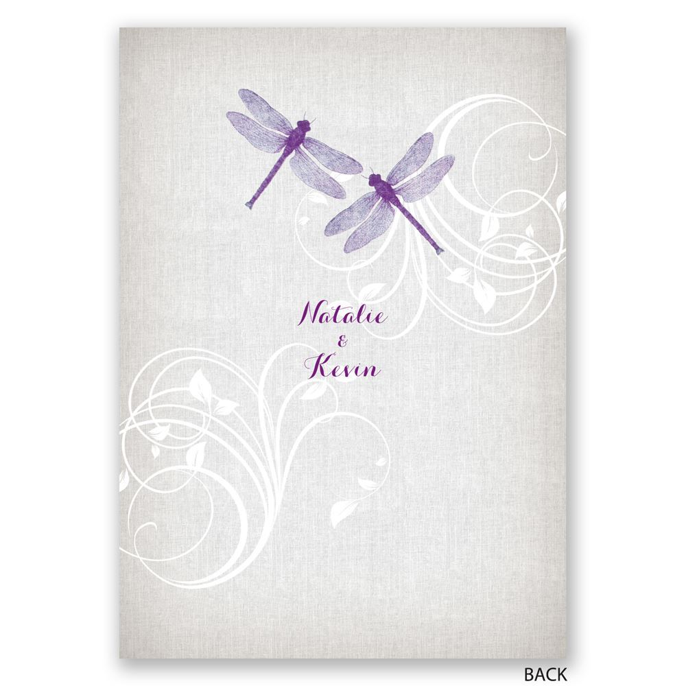 Dragonfly Pair Invitation Invitations By Dawn