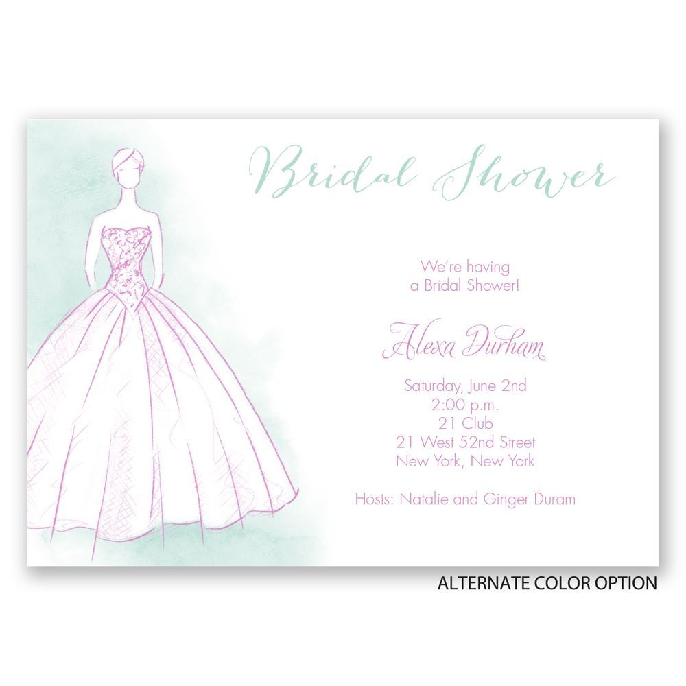 Print Home Bridal Shower Invitations