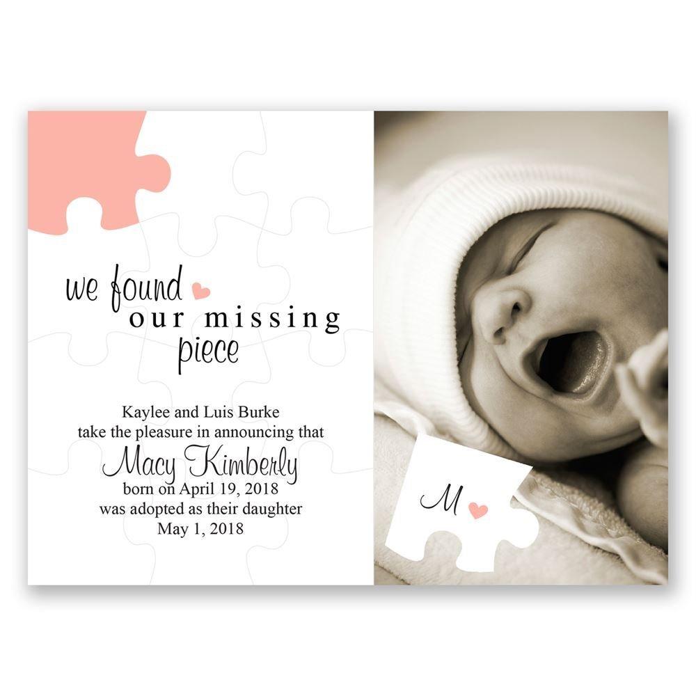The Missing Piece Petite Adoption Announcement