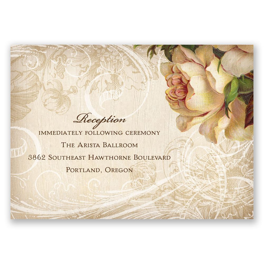 Rustic Wedding Reception Invitation Wording