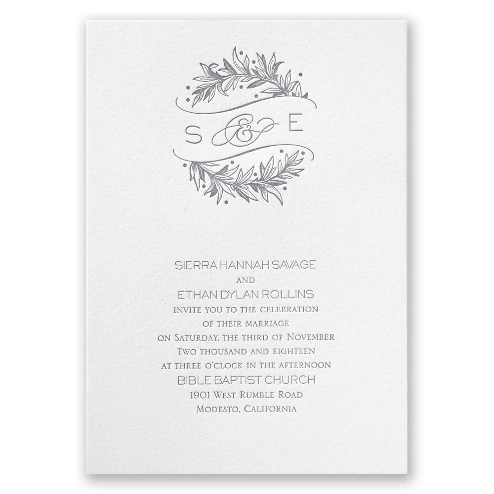 Natural Crest Letterpress Invitation Invitations By Dawn
