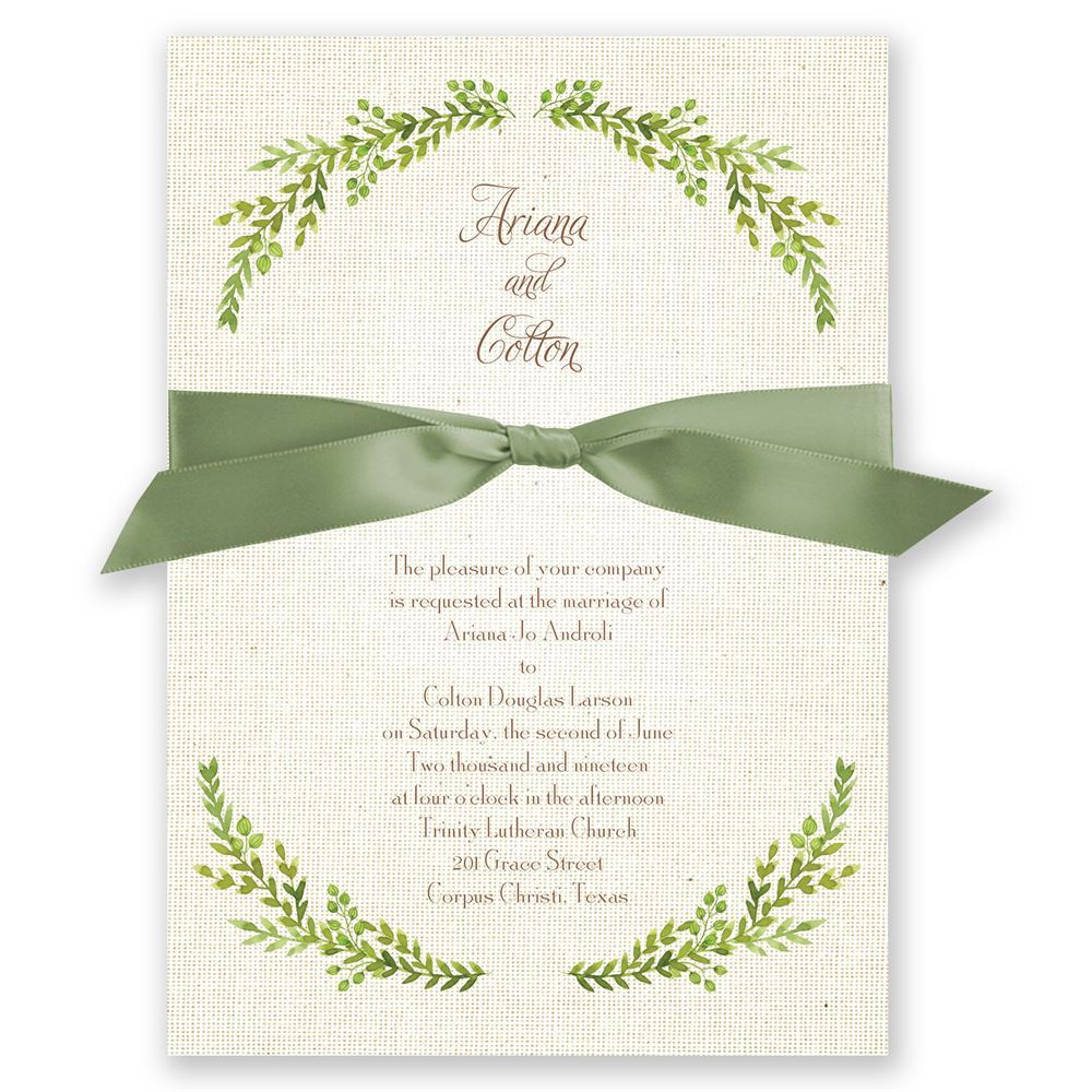 Burlap And Leaves Invitation Invitations By Dawn