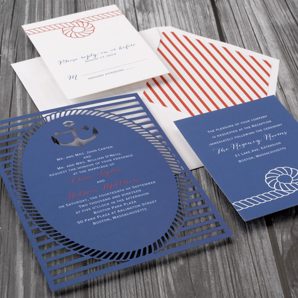 Nautical Style Laser Cut Invitation Invitations By Dawn