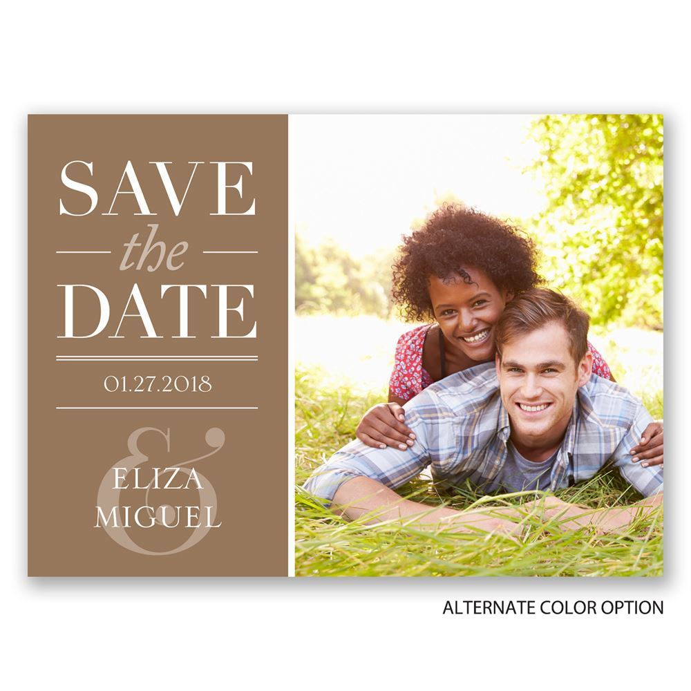 Save Date Postcard Design