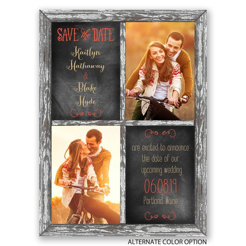 Crafted Window Save The Date Card Invitations By Dawn