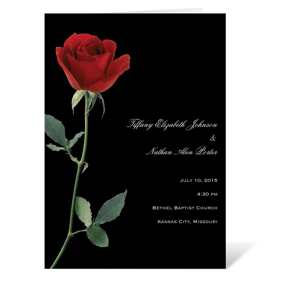 Rose Red Program Invitations By Dawn
