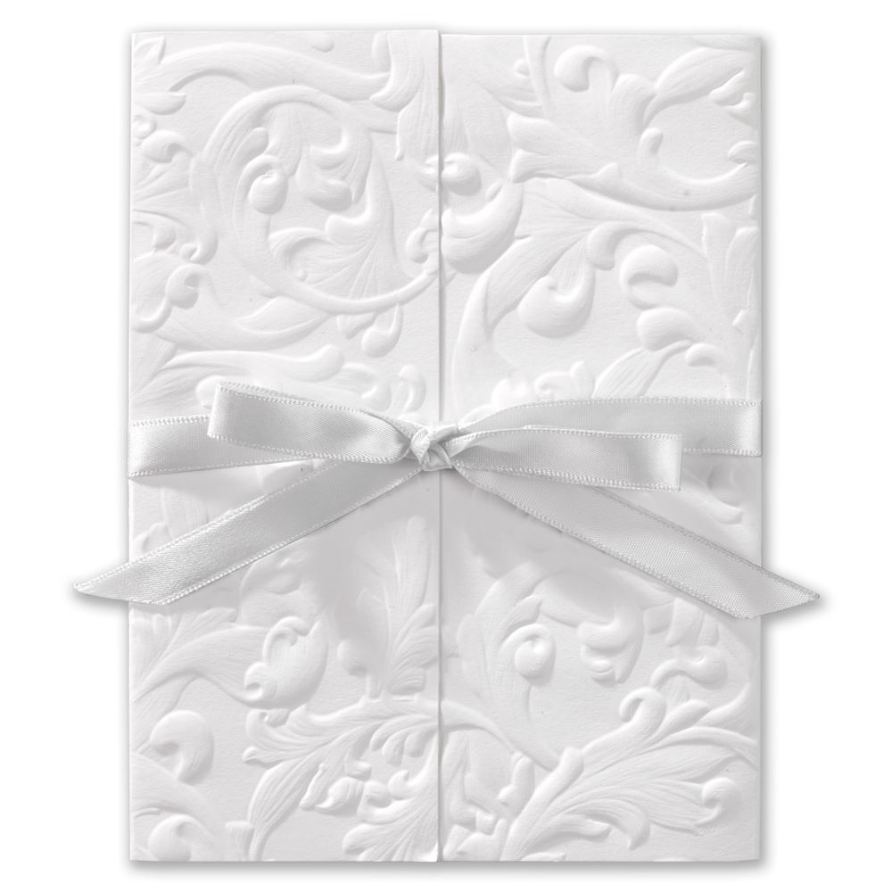 Vintage With Ribbon White Invitation Invitations By Dawn