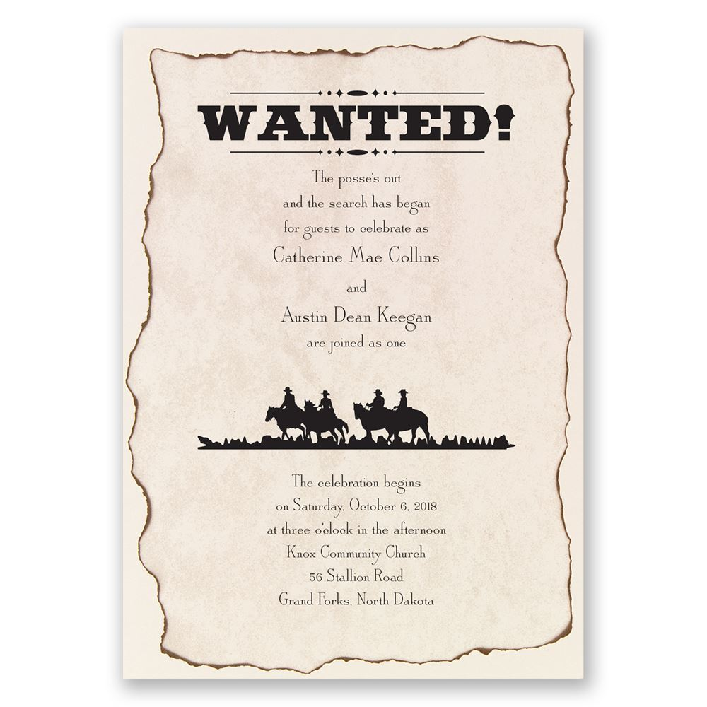 Wanted Invitation Invitations By Dawn