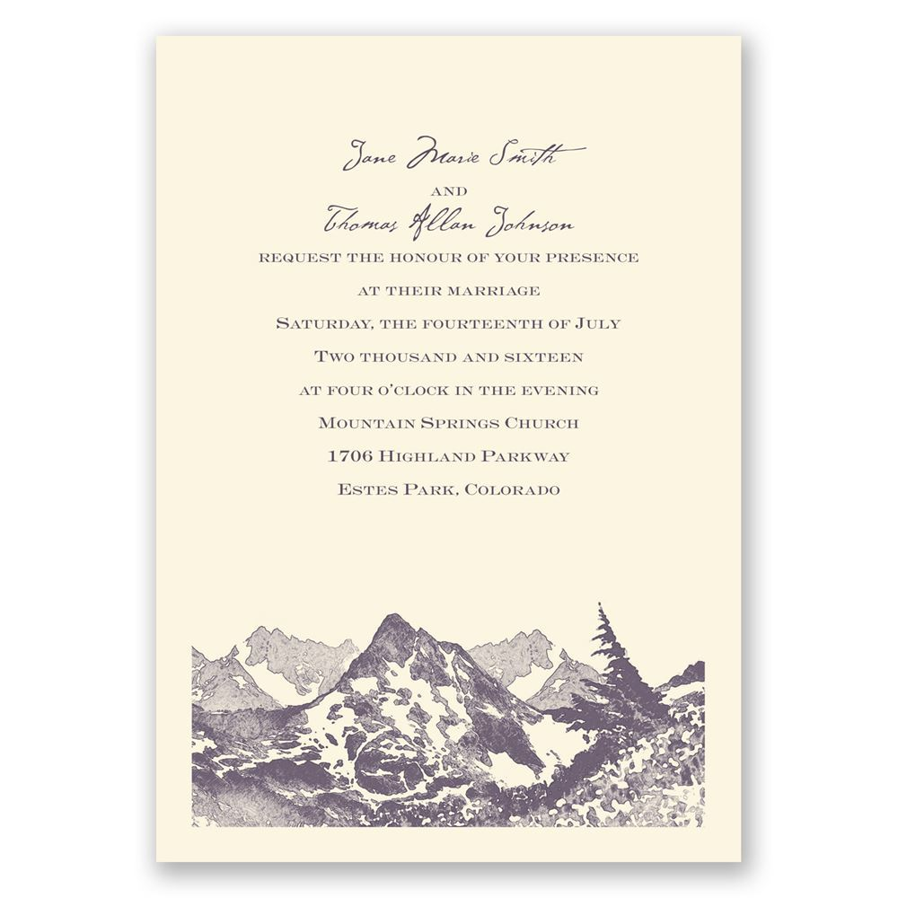 Watercolor Mountain Invitation Invitations By Dawn