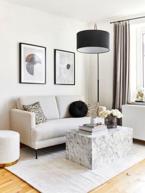 idee per arredare il soggiorno con il color verde petrolio (foto) divano di grandi dimensioni. Idee Per Arredare Un Soggiorno Piccolo Westwing