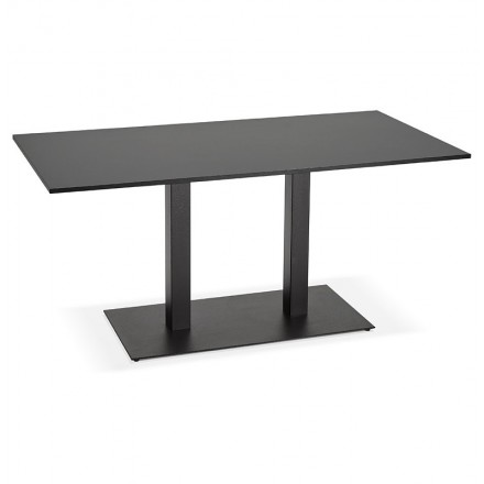 table design or meeting table lucile 160 x 80 x 75 cm black