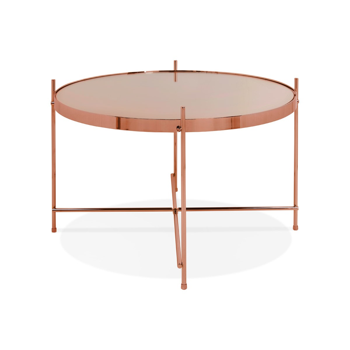 sumptuous coppery coffee table in