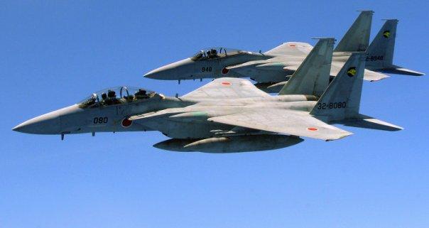 Cazas F-15 de las Fuerzas de Autodefensa de Japón