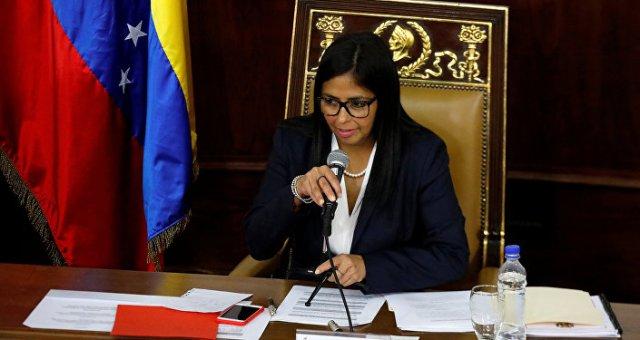 Delcy Rodríguez, presidenta de la Asamblea Nacional Constituyente