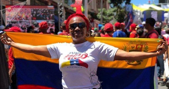 Una manifestación oficialista en Caracas