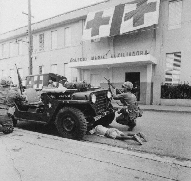Militares estadounidenses en Santo Domingo, 5 de mayo de 1965