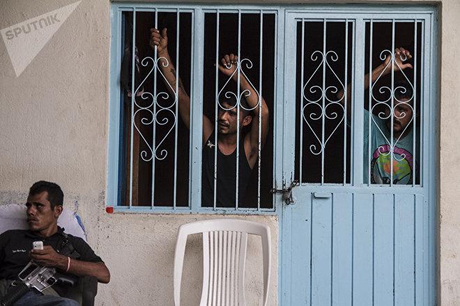 Michoacán. Cárcel de autodefensas michoacanos.