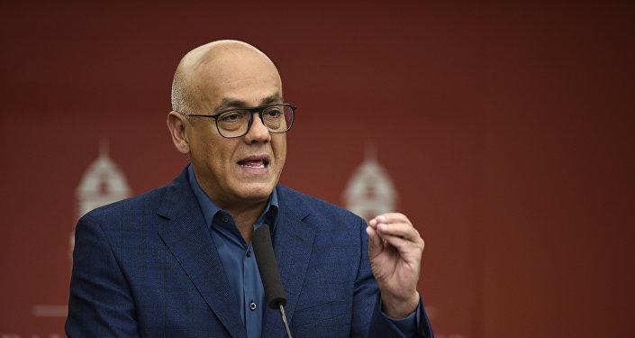 Jorge Rodríguez, ministro de Comunicación e Información de Venezuela