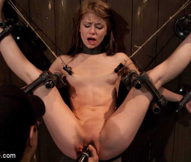 Destructive Orgasms This Little Brunette Is Made To Cum In Stressful Bondage Kink