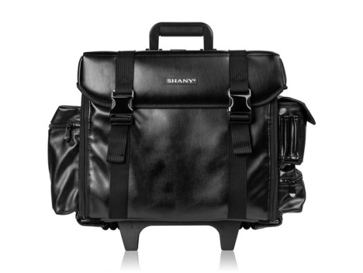 SHANY Makeup Artist Soft Rolling Trolley Cosmetic Case with Free Set of Mesh Bag - HEAD TURNER for $199 2