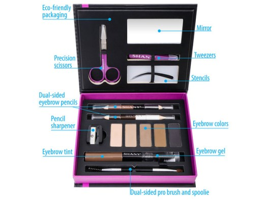 SHANY Brow Chicka Brow Eyebrow Set - 17 Piece Eyebrow Makeup Kit with Brow Powder, Brow Gel, Dual Ended Pencils, Stencils, Scissors, and Tweezers - All Hair Colors for $19 3