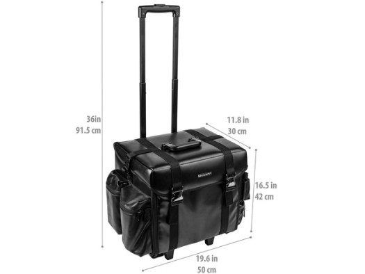 SHANY Makeup Artist Soft Rolling Trolley Cosmetic Case with Free Set of Mesh Bag - HEAD TURNER for $199 4