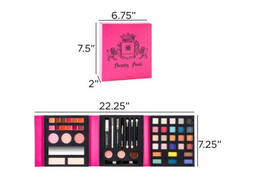 SHANY Beauty Book Makeup Kit – All in one Travel Makeup Set - 35 Colors Eye shadow , Eye brow , blushes, powder palette ,10 Lip Colors, Eyeliner & Mirror - Holiday Makeup Gift Set for $18 4