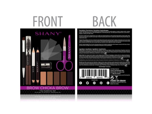 SHANY Brow Chicka Brow Eyebrow Set - 17 Piece Eyebrow Makeup Kit with Brow Powder, Brow Gel, Dual Ended Pencils, Stencils, Scissors, and Tweezers - All Hair Colors for $19 4
