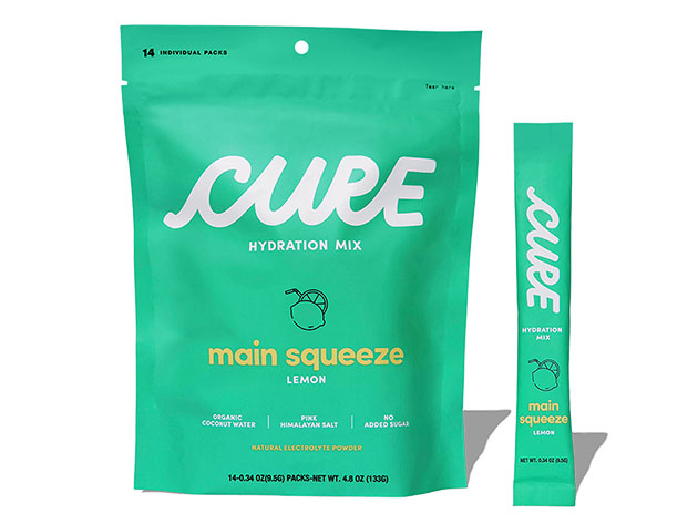 Two packages of Cure Hydration Mix