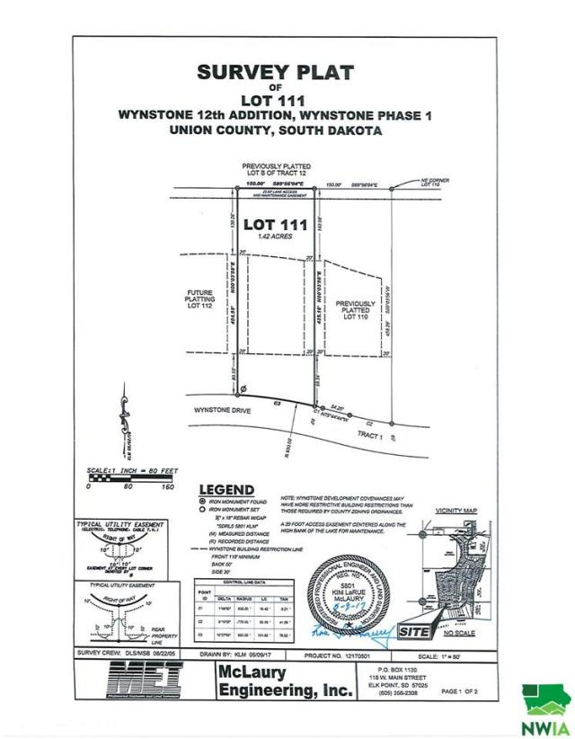Property for sale at Lot 111 Wynstone Drive, Jefferson,  SD 57038