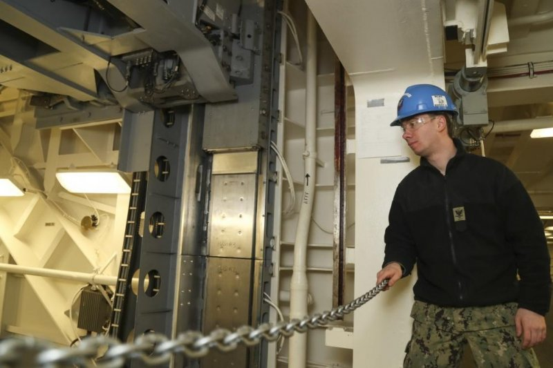 Second Advanced Weapons Elevator Completed On Uss Gerald R