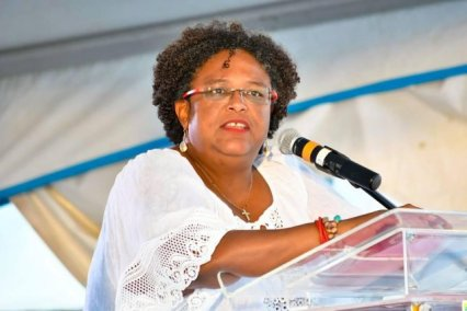 Image result for Mia Amor Mottley has become the first female PM of Barbados