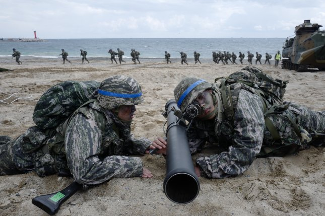 The United States and South Korea could be reducing the scale of annual military exercises in August, according to a South Korean press report on Friday. File Photo by Jeon Heon-kyun/EPA