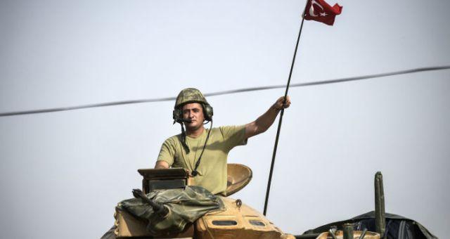 Żołnierz armii tueckiej w Syrii