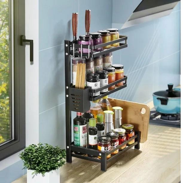 buy spice rack organizer 3 tier spice rack spice rack organizer shelf spice shelf holder spice organizer jars bottle storage holder kitchen storage