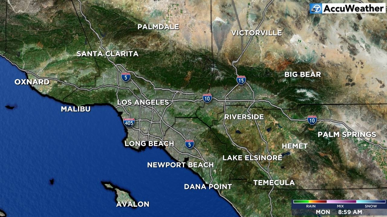 Los Angeles Weather Map Mega Doppler 7000 HD   abc7 com Southland Overview