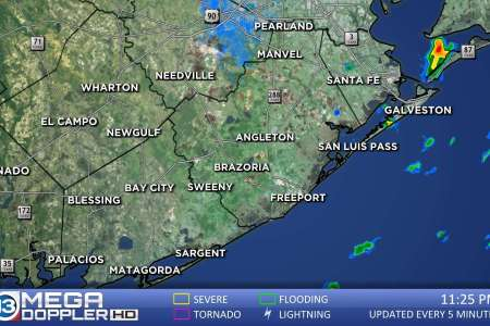 Brazoria   Matagorda Weather Radar Map   abc13 com Brazoria Matagorda