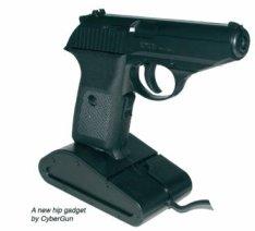 Gun-shaped computer mouse