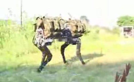 BigDog robotic pack mule