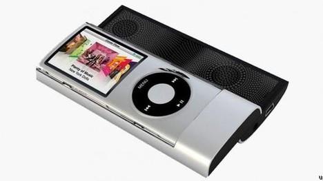 Green Power sliding speaker for your iPod
