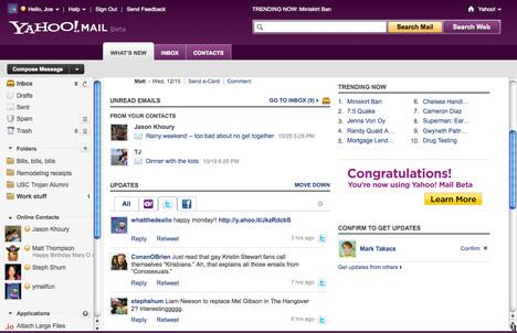 Killer App Revamped: Yahoo! Mail Beta   Ubergizmo