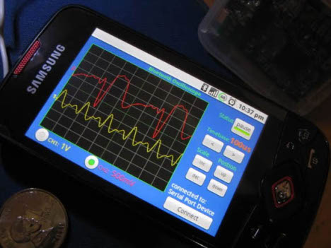 DIY: Bluetooth Wireless Oscilloscope For Android Phones