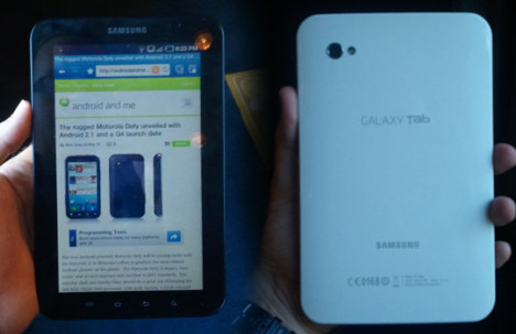 Specifications Of Samsung's Galaxy Tab Confirmed