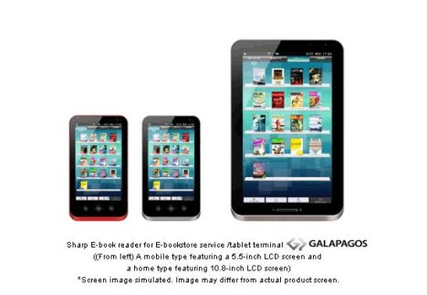 Sharp 5.5- And 10.8-inch Galapagos Tablets Announced