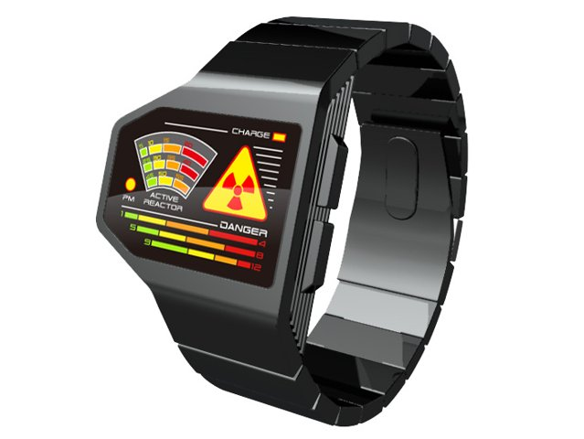 Radiation Level LED concept watch