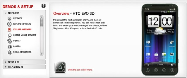 HTC EVO 3D simulator