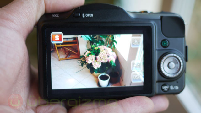 Touch anywhere on the screen to tell the camera where you want the focus