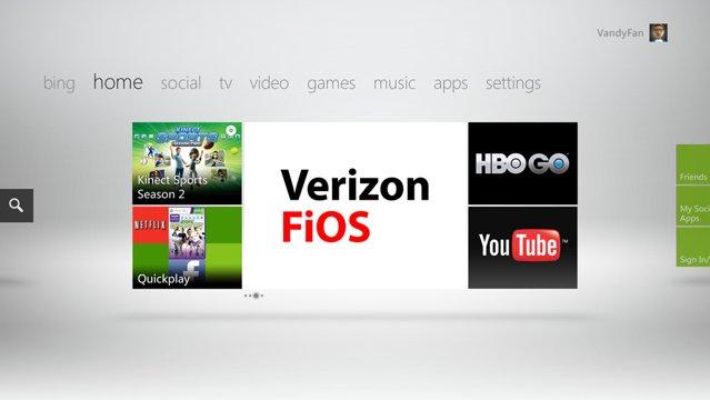 Xbox FiOS TV