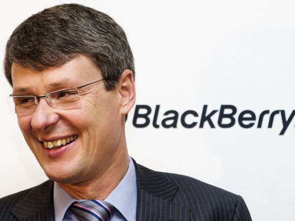 Blackberry CEO Heins attends a launch event for the new Blackberry Z10 device at a Rogers store in Toronto