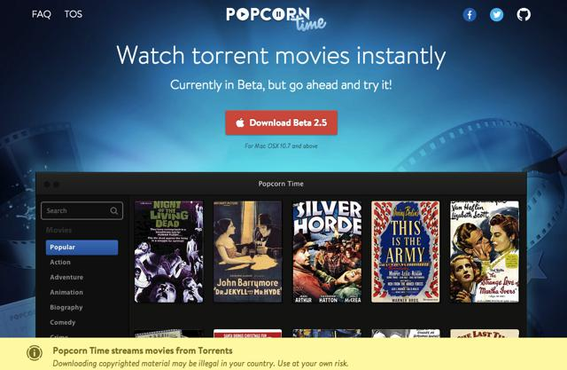 Popcorn Time Gets Resurrected Under A Different Torrent Group